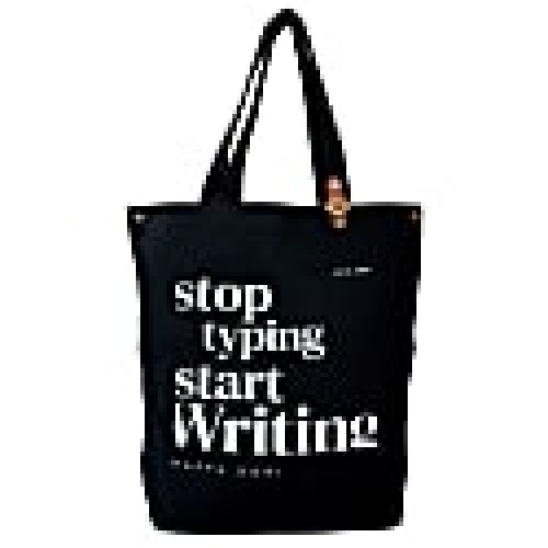 Canvas Tote - Stop Typing, Start Writing Black